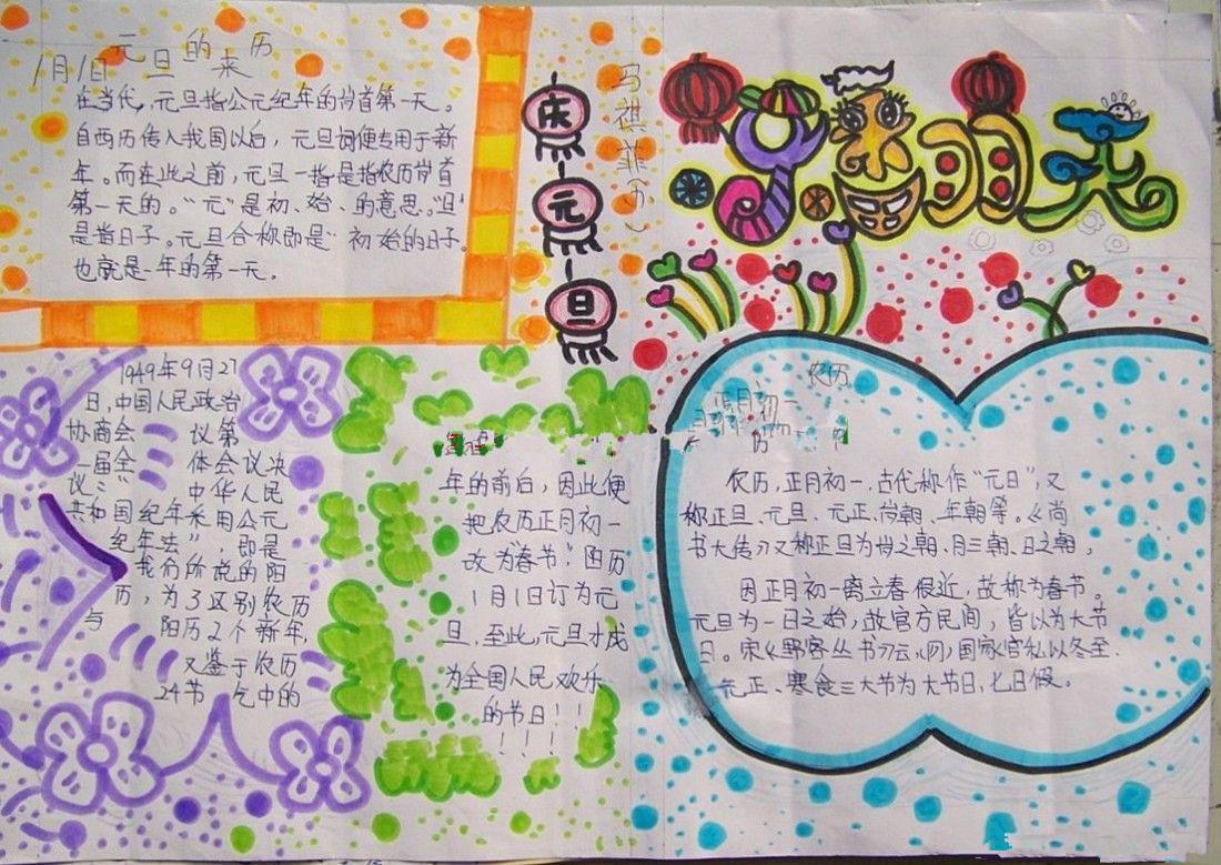 关于春节的手抄报图片,喜迎新春_2019手抄报